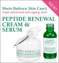 Free Sample Of Mario Badescu Peptide Renewal Cream & Serum