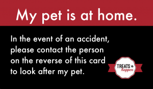 """Free """"My Pet Is At Home"""" Wallet Card"""