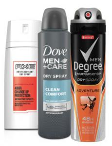 Free Sample Of Unilever Dry Spray Antiperspirant