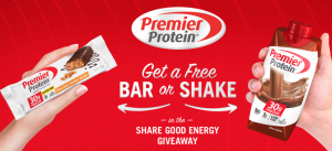 Free Premier Protein Bar Or Shake