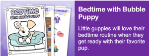 Free Printable Bedtime with Bubble Puppy Activity Pack