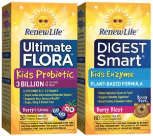 Free Sample Of Ultimate Flora Kids Probiotic and Digest Smart Kids Enzyme