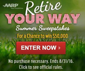 AARP $50K Retire Your Way Summer Sweepstakes