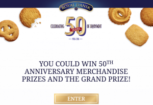 Royal Dansk 50th Anniversary Instant Win Game & Sweepstakes