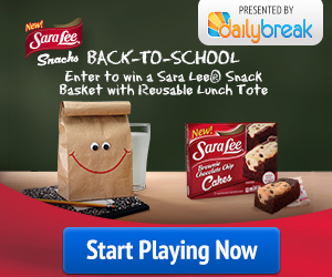 Sara Lee Back-To-School Sweepstakes