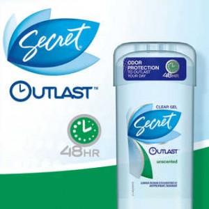 Free Sample Of Secret Outlast Clear Gel