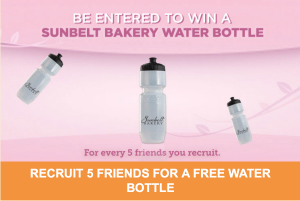 Free Sunbelt Bakery Water Bottle When You Refer 5 Friends