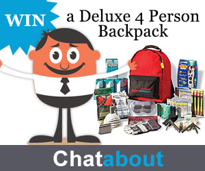 The Ready America Grab 'N Go Deluxe 4 Person Backpack Sweepstakes