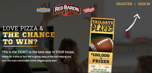 Schwan's Tailgate at Your Place Promotion