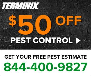 Terminix - Free Estimate, $50 Off, And How-To Booklet