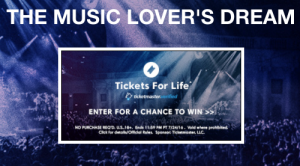 The Ticketmaster Summer 2016 Tickets For Life Sweepstakes
