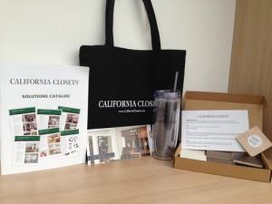 Free California Closets Sample Kit