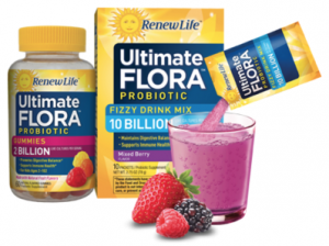 Free Sample Of Ultimate Flora Probiotic Gummies AND Fizzy Drink Mix