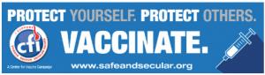 "Free ""Vaccinate"" Sticker"