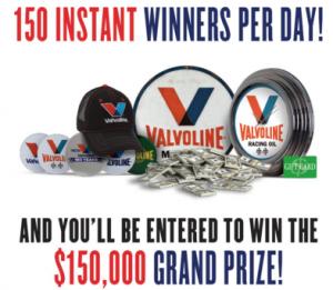 Valvoline 150 Giveaway