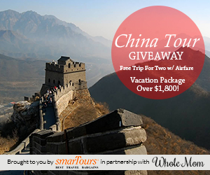 Enter To Win A Trip For Two To China