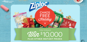 Ziploc Chaos-Free Holiday Instant Win And Sweeps