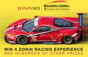 Zonin Racing Experience Instant Win Game and Sweepstakes