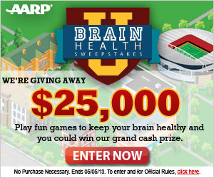 AARP Brain Health Sweepstakes