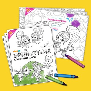 Printable Nick Jr. Adult Coloring Pages and Kid-Friendly Springtime Coloring Pack