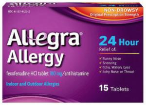 Free Sample Of Allegra Allergy 24Hr