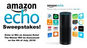 Enter The Amazon Echo Sweepstakes