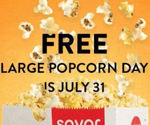 AMC Stub Members - Free Large Popcorn on 7/31