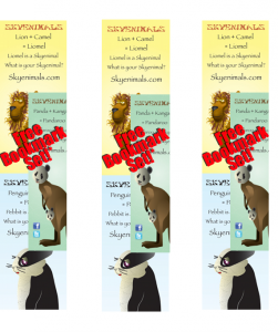 Free Animal Bookmarks for Kids
