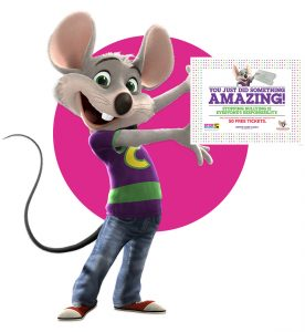 50 Free Chuck E. Cheese Tickets