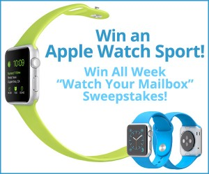 "Win All Week ""Watch Your Mailbox"" Sweepstakes: Win an Apple Watch"
