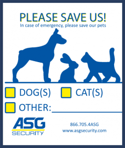 "Free ""Please Save Us"" Pet Decal From ASG Security"