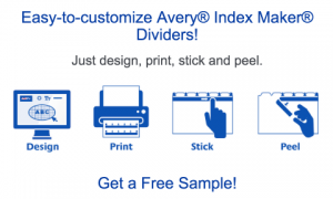 Free Sample Of Avery Index Maker Dividers