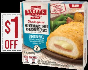 Printable Barber Foods $1.00 Off Coupon