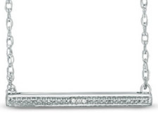 Enter To Win Diamond Accents Beaded Bar Necklace in Sterling Silver