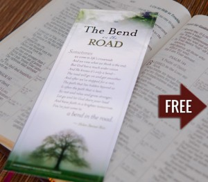 """Free """"The Bend In The Road"""" Poem Bookmark"""