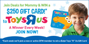 Deals For Mommy $250 Weekly Toys R Us Gift Card Giveaway