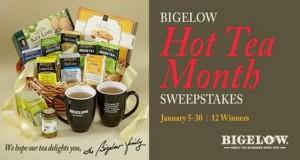 The Bigelow Tea Hot Tea Month Sweepstakes