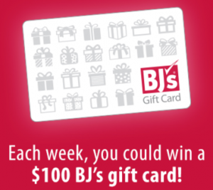 BJ's Wholesale Club Weekly $100 Giveaway