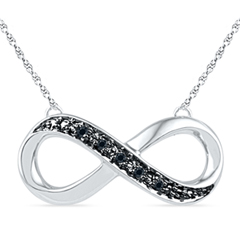 Win A Black Diamond Accent Sideways Infinity Necklace in Sterling Silver