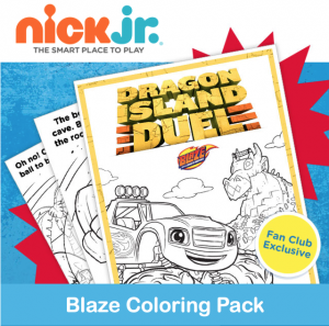 Printable Blaze and the Monster Machines Dragon Island Coloring Pack