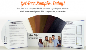 Free Samples And $20 Coupon From Blinds.com