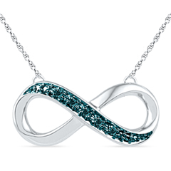 Enter To Win A Blue Diamond Accent Sideways Infinity Necklace in Sterling Silver