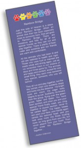 Free Free Rainbow Bridge Bookmark For Those Who Have Lost or Knows Someone Who Has Lost A Pet