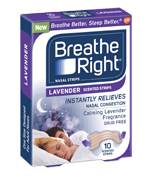 Free Sample Of Breathe Right Extra Clear or Lavender Nasal Strips