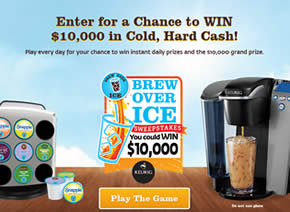 The Brew Over Ice Instant Win Game and Sweepstakes