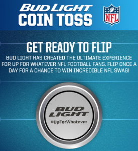 Bud Light NFL Coin Toss Sweepstakes