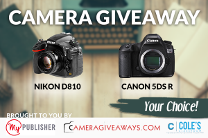 Camera Giveaway: Your choice of Nikon D810 OR Canon 5DS R
