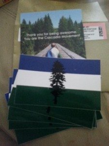 "Free Five Packs Of 3X5"" Vinyl Cascadia Stickers"