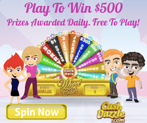 CashDazzle Spin And Win Game