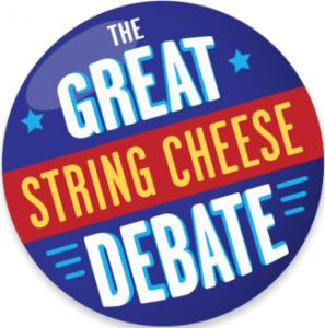 "Saputo Cheese USA Frigo Cheese Heads ""Great String Cheese Debate"" Promotion"